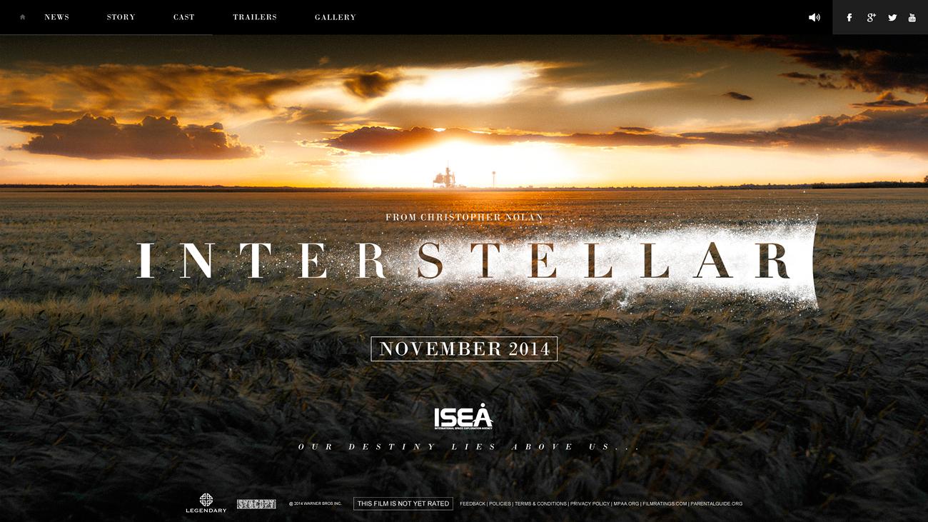 Interstellar Webdesign by bpenaud