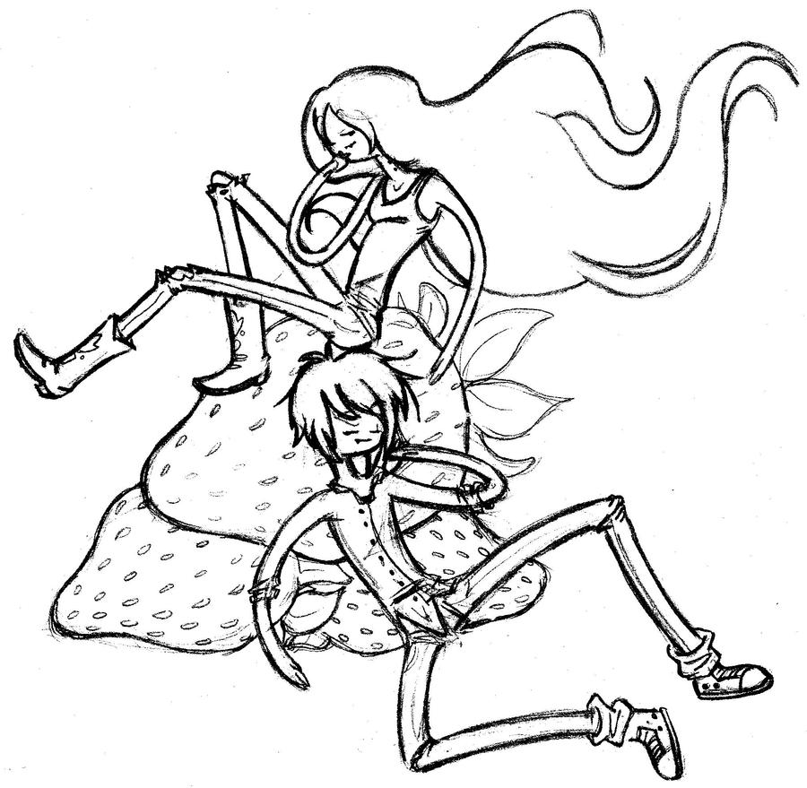 Marceline and marshall lee by fiomera on deviantart for Marceline coloring pages