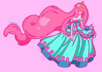 Princess Bubblegum by fIOMERA