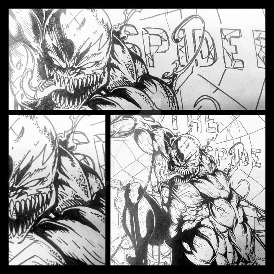 The Amazing Spider Man- Venom line-art by EclipseDA