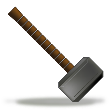 thor hammer icon by mediatiger on deviantart
