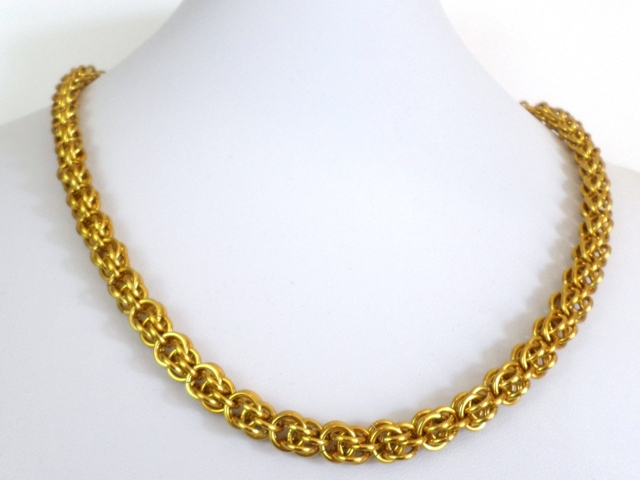 Gold chain necklace for men or women by fawnforged on deviantart gold chain necklace for men or women by fawnforged aloadofball Images