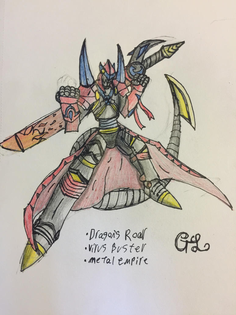 Exaltdramon final (seriously tho I'm done) by GrimlockGabe