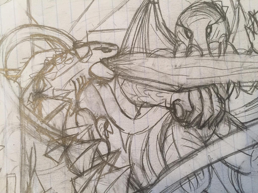 Godzilla vs Cthulhu by GrimlockGabe