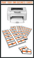 Print Your Own Business Cards by quickmedia