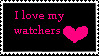 I love my watchers stamp by PorcelainsKey