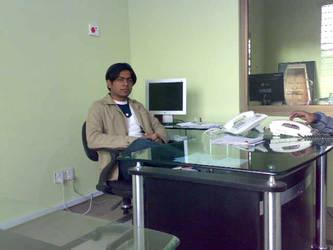Me in my Office by Blazedezignz