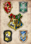All the crests together