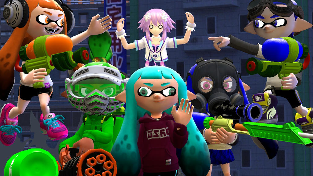 Anime Characters For Gmod : Splatoon gmod squid nanigans by aspider on deviantart