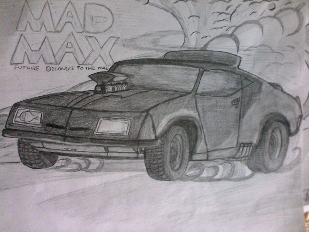 my mad max car drawing by captaincrunch1950 on deviantart. Black Bedroom Furniture Sets. Home Design Ideas