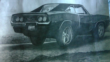1968 dodge charger done only in pecil by captaincrunch1950