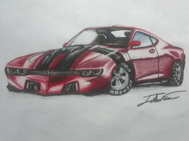 chevelle ss concept car drawing by captaincrunch1950