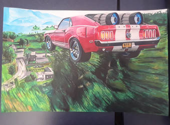 69 Ford Mustang Boss with jet engines by captaincrunch1950