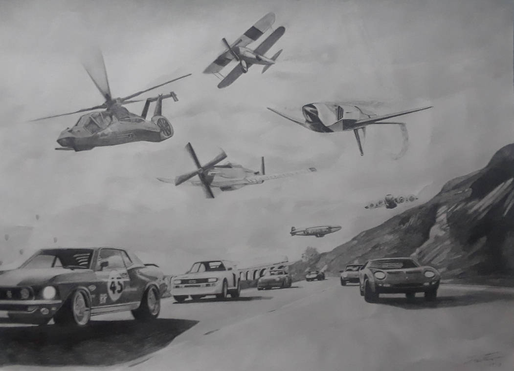 cars V.S. planes and a helicopter by captaincrunch1950