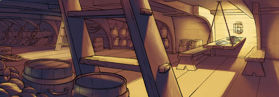 ship interior layout colouring by kelipipo