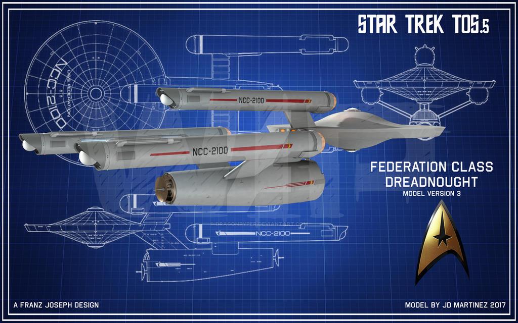 TOS.5 Federation Class WIP2 by dragonpyper