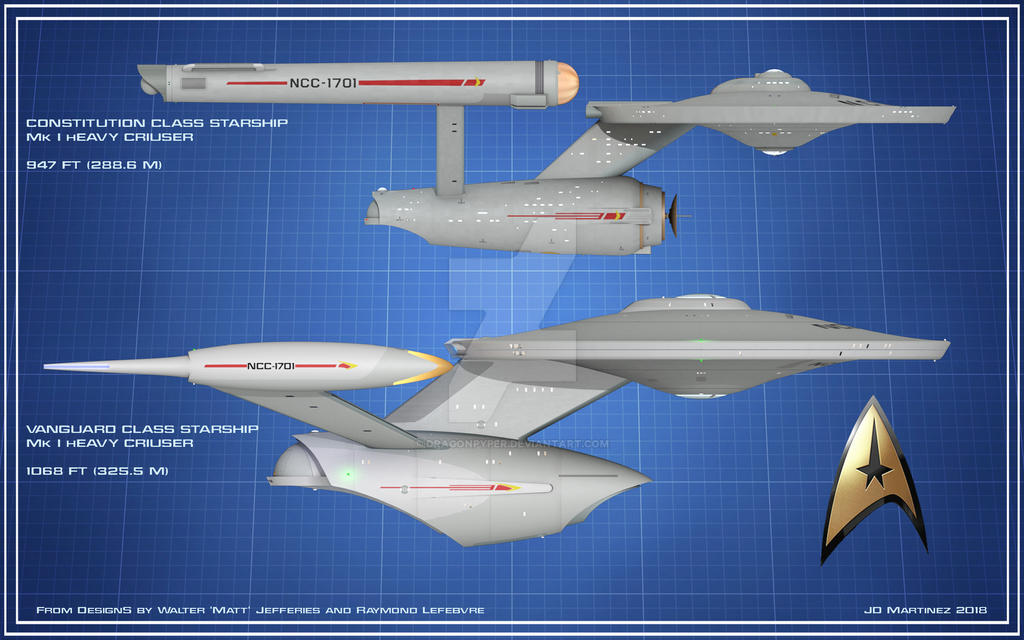 Vanguard- Constitution Size Comparison by dragonpyper