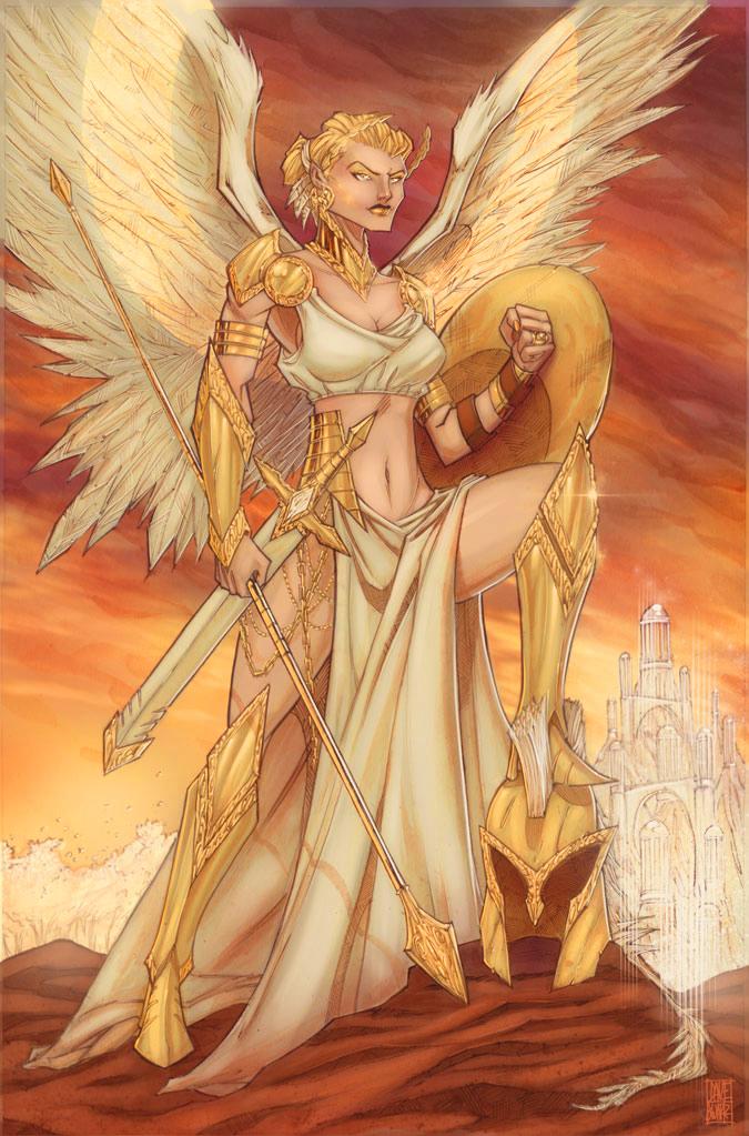 Goddess Nike by daveswartzart
