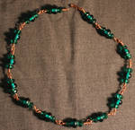 Hand wrapped necklace
