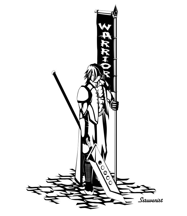 Siyah beyaz çalışma (Warrior)