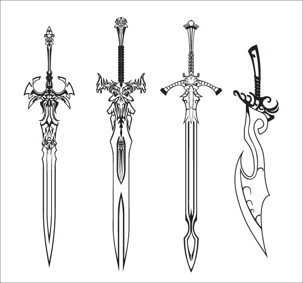 Sword Sketch 171507625 on Google Chrome Download