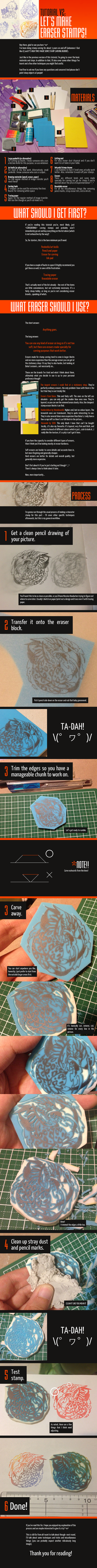 Let's make: ERASER STAMPS V2 by countercanon