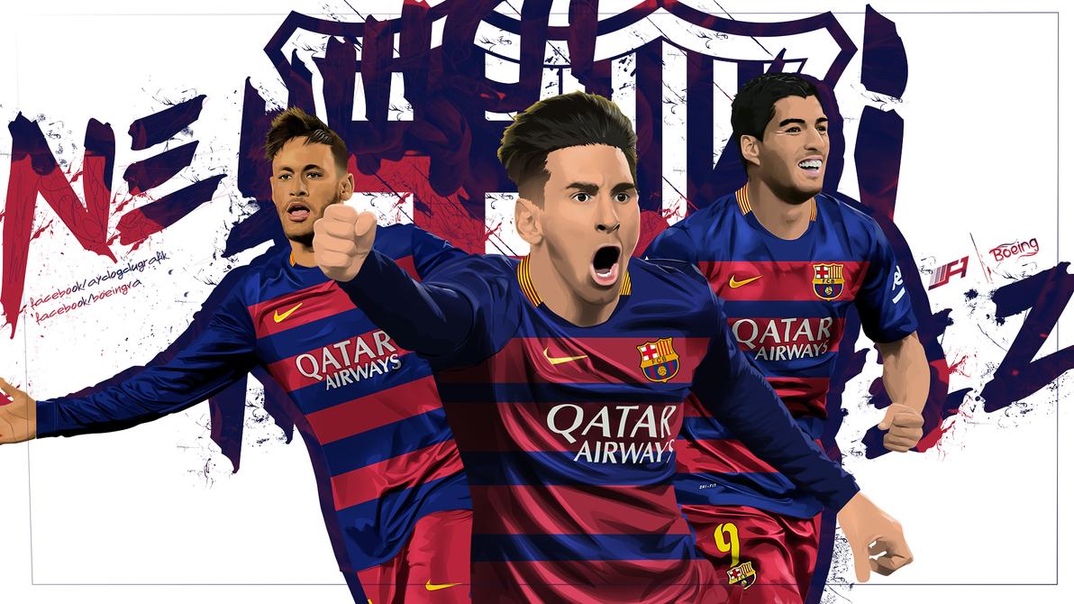 Neymar - Messi - Suarez by SemihAydogdu