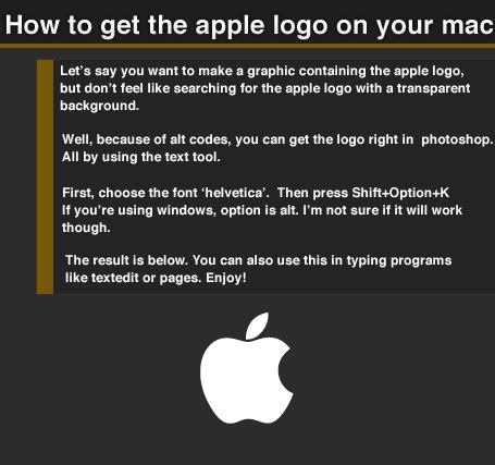 Alt Code for Apple Logo by dawdude on DeviantArt