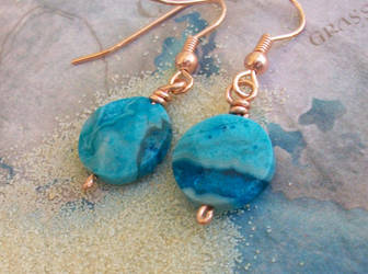 Crazy Lace Agate Earrings by LotusElysse