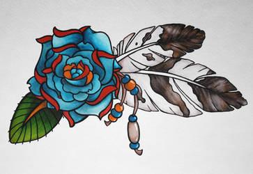 Native American Rose by LotusElysse