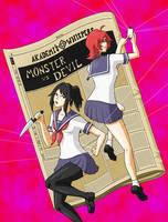 (yandere sim fancomic) Monster vs Devil . page 0 by Lyan-s-Art