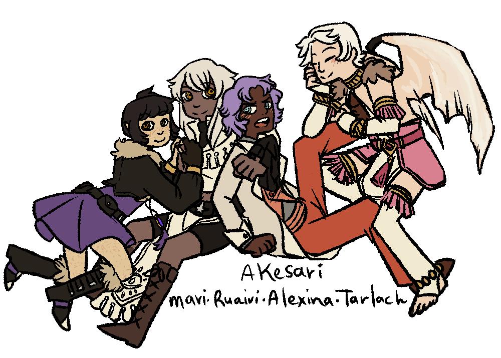 Four Akesaris by BubblyConcoction