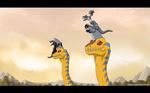 Trough Ancient dino region