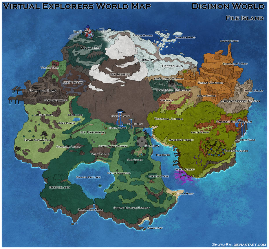 Virtual Explorers   File Island world map by Shoyu Rai on DeviantArt
