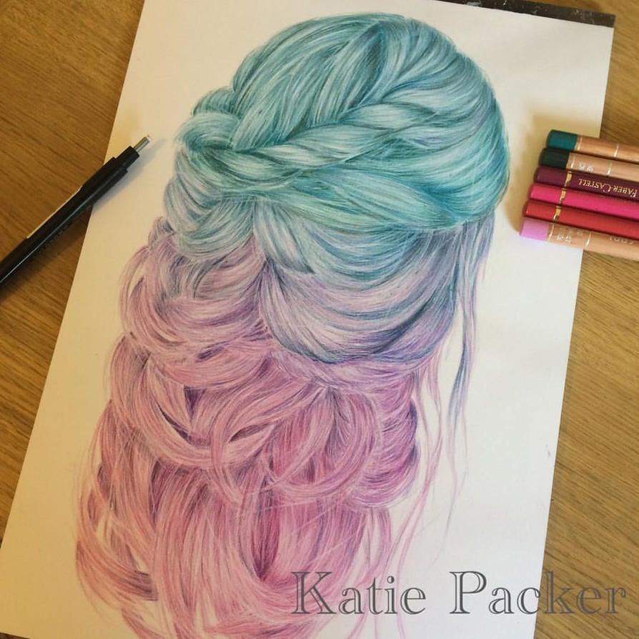 Realistic hair color drawing