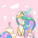 eating cake