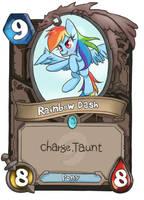 Rainbow Dash card by joycall3