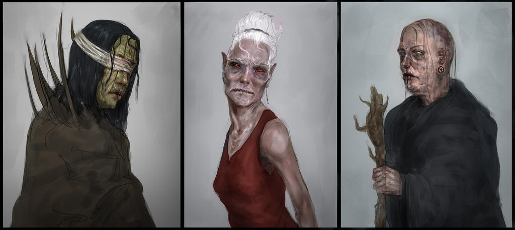 Witch concepts by Othrandir