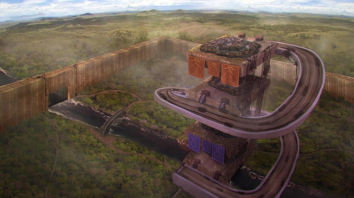 Environment concept art for uni project by Othrandir