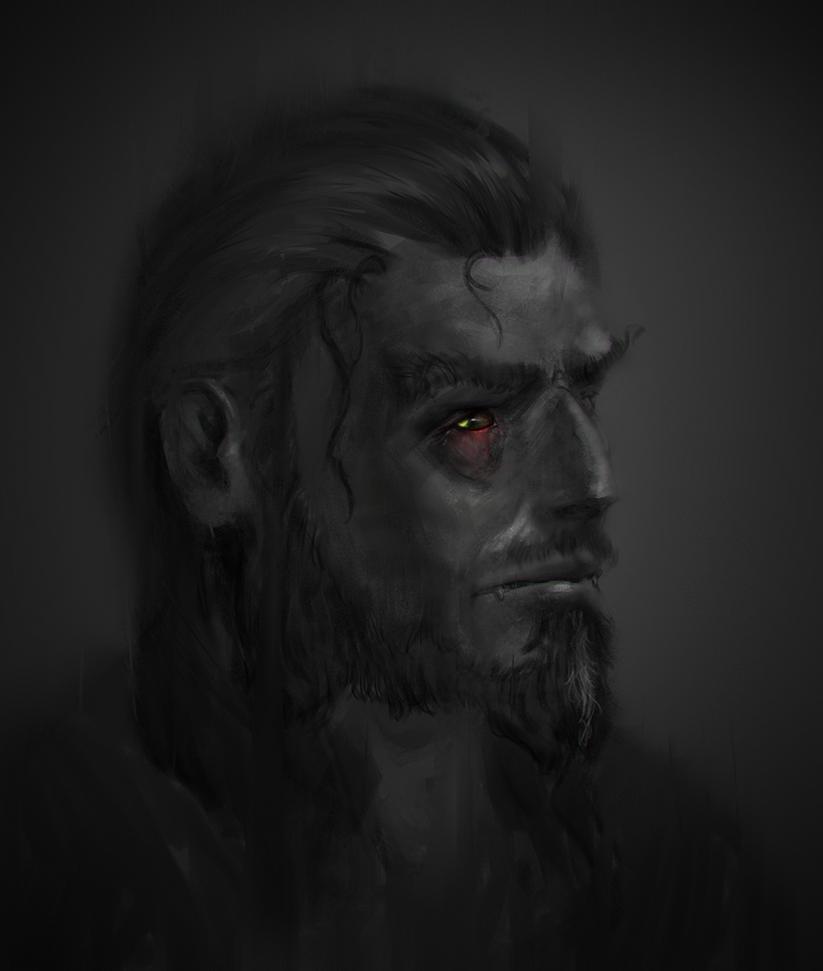 Werewolfy character by Othrandir