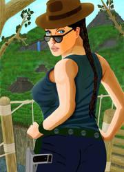 Lady Lara Croft by cajone