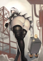 NieR Automata 2B by SegelForest
