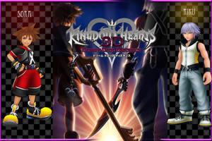 Kingdom Hearts 3D Wallpaper: Sora and Riku by AzuraJae