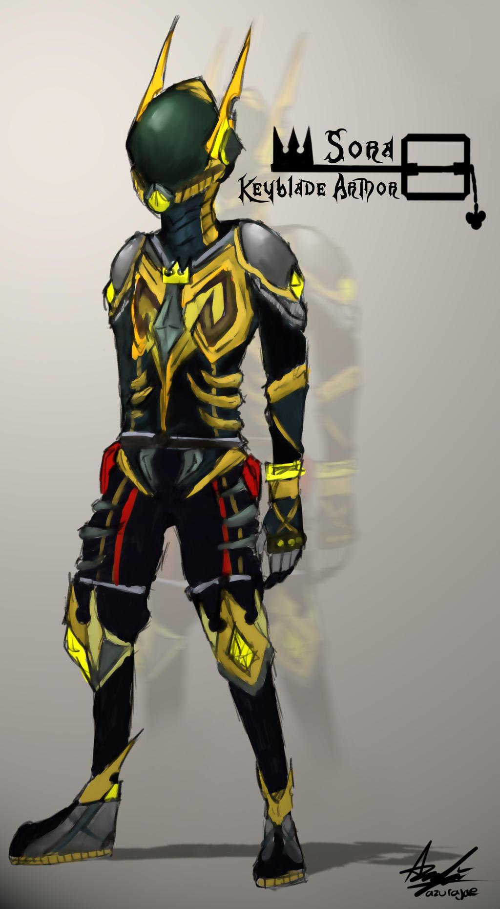 sora keyblade armor by azurajae on deviantart