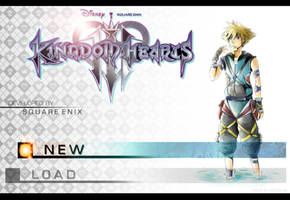 Kingdom Hearts 3 Menu Screen by AzuraJae