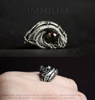 Garnet ring by IMNIUM