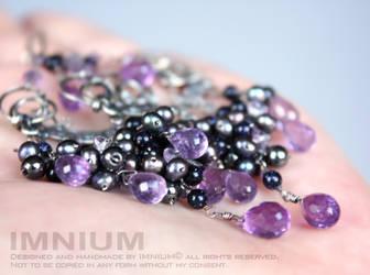 Violet earrings I by IMNIUM