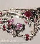 Black Nouveau necklace - details