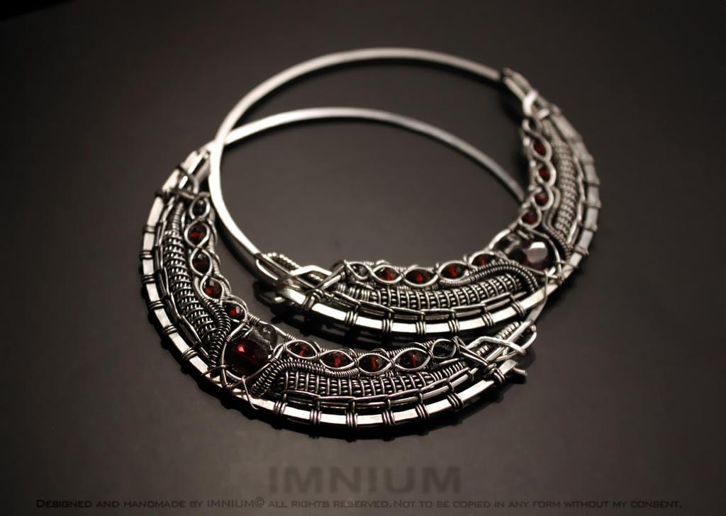 TR hoop earrings by IMNIUM