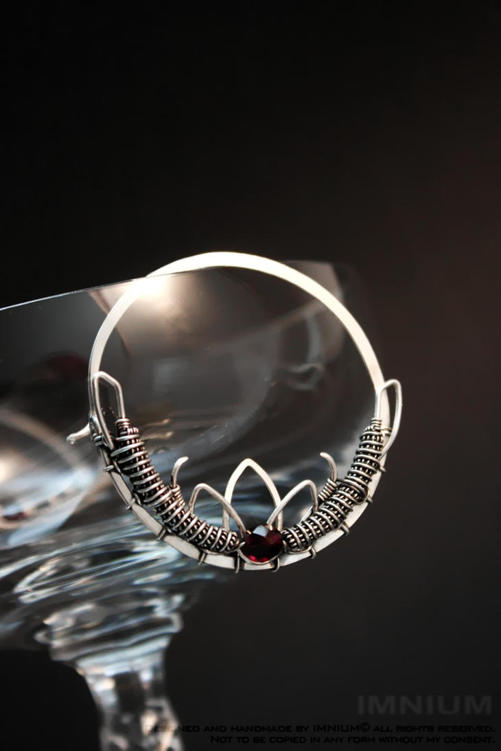 Lotos hoop earrings for tunnels by IMNIUM